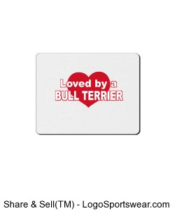 Bull Terrier heart mousepad Design Zoom