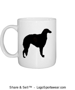 Borzoi Mug Design Zoom