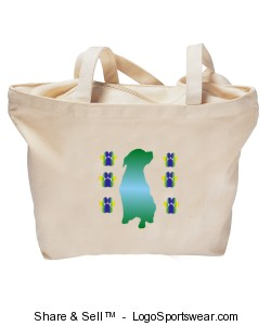 Dog Totebag Design Zoom
