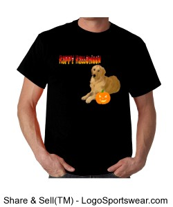 Golden Retriever Halloween Tee Design Zoom