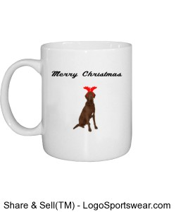 Chesapeake Bay Retriever Christmas Mug Design Zoom