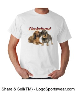 Dachshund Adult T-Shirt Design Zoom