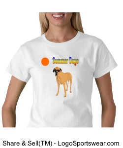 Summer Days Great Dane T-Shirt Design Zoom