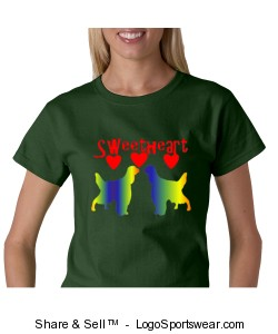 Sweetheart Irish Setter Tee Design Zoom