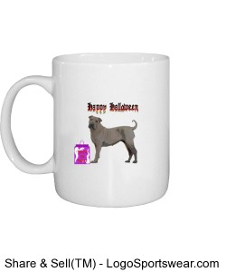 Halloween Sharpei Mug Design Zoom
