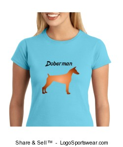 Doberman T-shirt Design Zoom